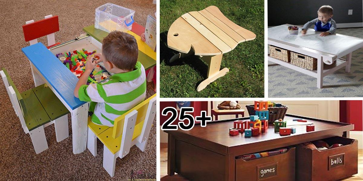 Originální dětské stoly - fotogalerie, inspirace