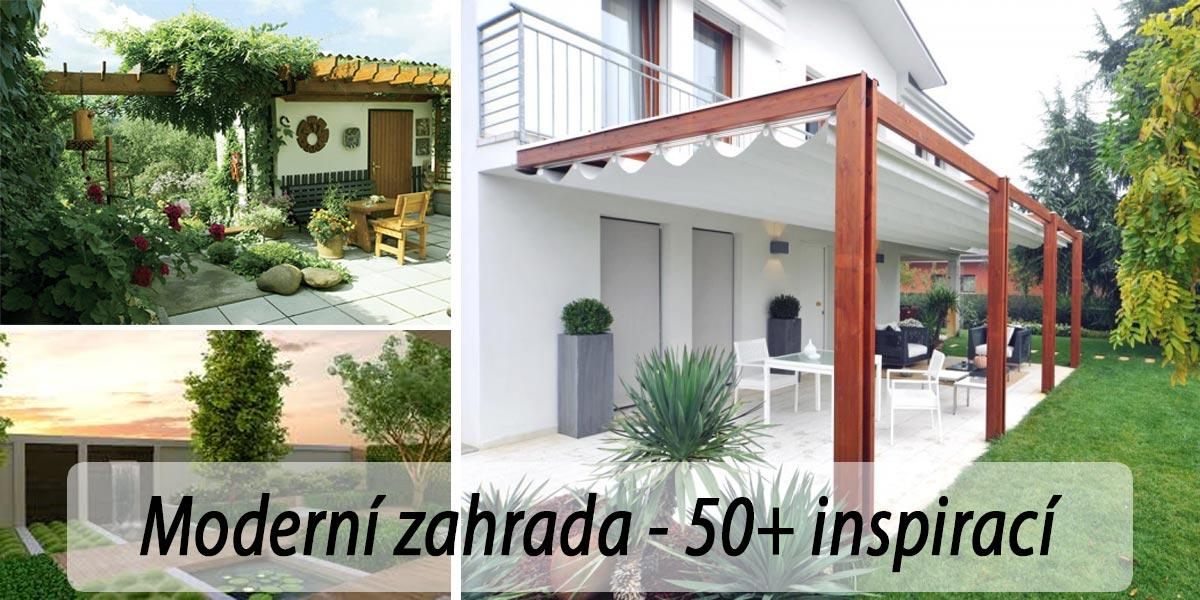 Moderní zahrada s terasou - fotogalerie, inspirace