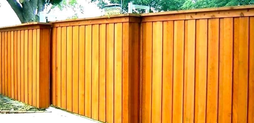 Běžný dřevěný plot