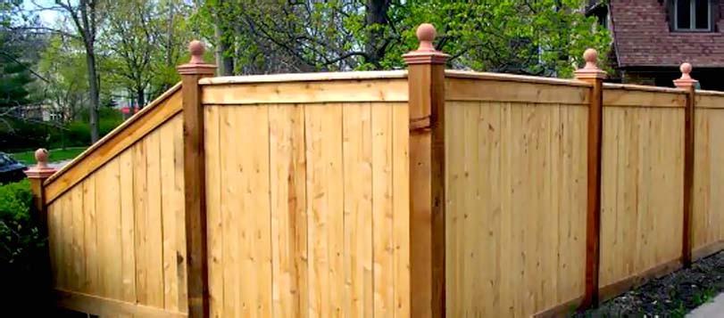 Dřevěný plot čínského stylu
