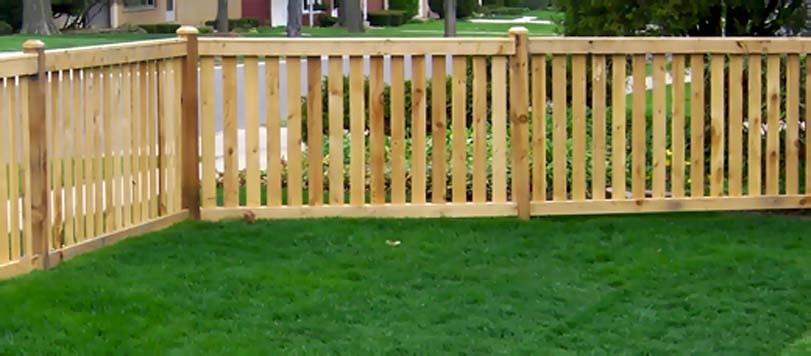 Roh smrkového plotu