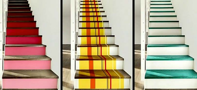 Barevná inspirace schodů
