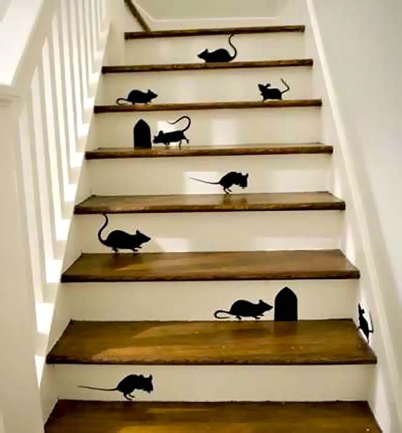Myši na schodech, inspirace