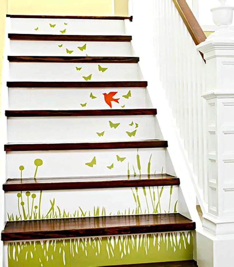 Travní malba na schodišti