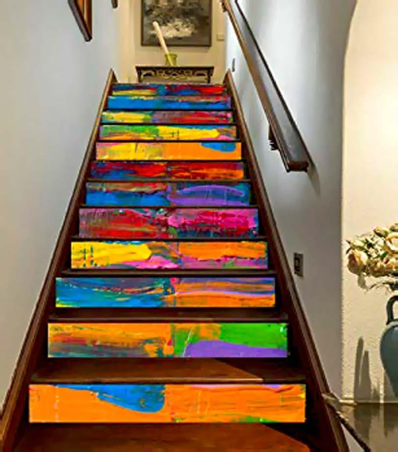 Pestrobarevné schodiště, inspirace